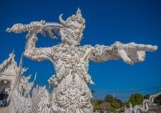 Der erstaunliche Wat Rong Khun-Tempel von Chiang Rai, Thailand lizenzfreie stockfotografie
