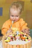 Der erste Geburtstag des Babys Lizenzfreies Stockfoto