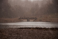 Der erste Regen im Frühjahr Lizenzfreies Stockfoto