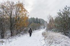 Der erste Schnee Stockfoto