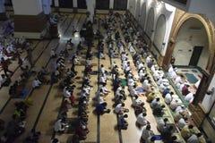 Der erste Tag an tarawih Gebet MAJT Semarang Lizenzfreies Stockbild