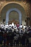 Der erste Tag an tarawih Gebet MAJT Semarang Stockfotografie