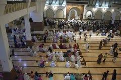 Der erste Tag an tarawih Gebet MAJT Semarang Lizenzfreie Stockfotos