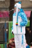 Der erste Torchbearer Tver - Yuri Bobrov Lizenzfreies Stockfoto