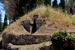 Der Etruscan-Friedhof von Cerveteri Stockfotos