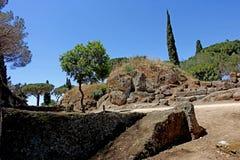 Der Etruscan-Friedhof von Cerveteri Stockfotografie