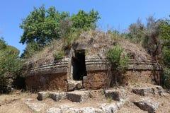 Der Etruscan-Friedhof von Cerveteri Lizenzfreies Stockfoto