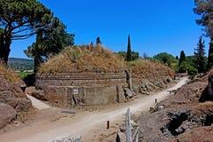 Der Etruscan-Friedhof von Cerveteri Stockbild
