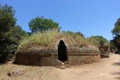 Der Etruscan-Friedhof von Cerveteri Lizenzfreie Stockfotos