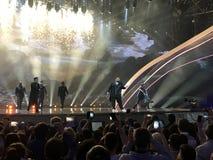 Der Eurovisions-Schlusstag Ukraine, Kyiv 05 13 2017 redaktionell Jacques Houdek von Kroatien Lizenzfreie Stockfotografie