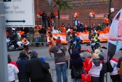 Der Führer Pack 2014 NYC-Marathon-Männer Stockfotografie
