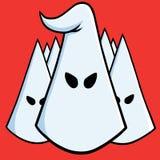 Der Führer von Ku-Klux-Klan Der kleine Junge unzufrieden gemacht 17. August 2017 Stockbild