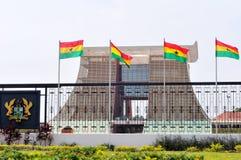 Der Fahnenmast-haus- Präsidentenpalast von Ghana lizenzfreies stockfoto