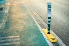 Der Fahrradweg Fahren Sie Zeichen, das Zeichen rad, das einen engagierten Fahrradweg anzeigt Lizenzfreies Stockbild