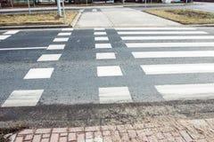 Der Fahrradweg markiert Stockfoto