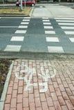 Der Fahrradweg markiert Lizenzfreie Stockfotos