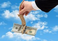 Der Fall des Dollars Stockbilder