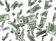 Der fallende Dollar Stockfotografie