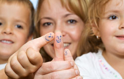 Der Familie Konzept zusammen Stockfotografie