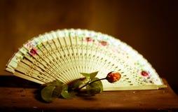 Der Fan, das Verführungswerkzeug von Spanierinnen Lizenzfreie Stockbilder