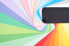 Der Farbenkartenabschluß oben Lizenzfreie Stockfotografie