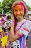 Der Farblauf Bukarest Lizenzfreies Stockbild