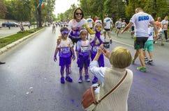 Der Farblauf Bukarest Stockfoto