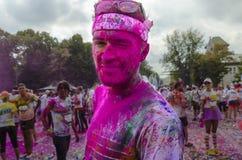 Der Farblauf Bukarest Stockbild