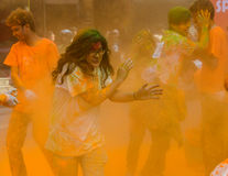 Der Farblauf 2014 in Kathmandu Lizenzfreies Stockbild