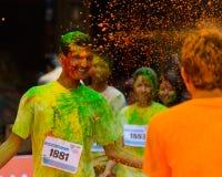 Der Farblauf 2014 in Kathmandu Lizenzfreie Stockbilder