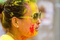 Der Farblauf 2014 in Kathmandu Stockfoto