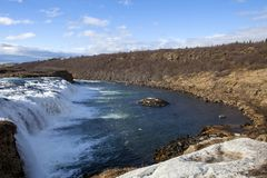 Der Faxifoss-Wasserfall in Island stockbilder
