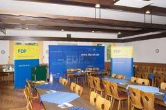Der FDP Kiel del bei de Wahltag Imágenes de archivo libres de regalías