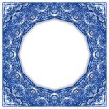 Der Feldentwurf, der durch typische portugiesische Dekorationen mit farbigen Keramikfliesen angespornt wurde, nannte azulejos - K lizenzfreie abbildung