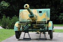 der Feldgeschütz75-millimeter Art 90 von JAPAN 1932 aus Gründen Kampfmittel e Lizenzfreies Stockfoto