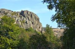 Der Felsen sieht wie der Kopf einer Bulldogge aus lizenzfreie stockfotografie