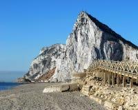 Der Felsen von Gibraltar. Lizenzfreie Stockfotos