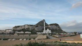 Der Felsen von Gibraltar stock footage