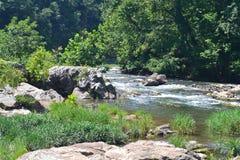 Der felsige Plan des Roanoke-Flusses Lizenzfreie Stockfotos