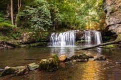 Der Ferrera-Wasserfall Stockfotos