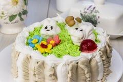 Der festliche Kuchen der Kinder Stockbild