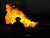 Der Feuerwehrmann Stockbild
