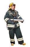 Der Feuerwehrmann in den regimentals Stockfotos