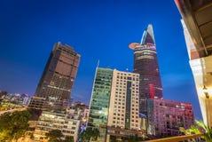 Der Finanzturm Bitexco, Ho Chi Minh City, Vietnam Stockfotos