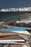 Der Fischereihafen von Al Mukalla im Jemen Lizenzfreie Stockfotos