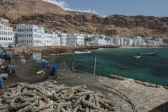 Der Fischereihafen von Al Mukalla im Jemen Lizenzfreies Stockbild