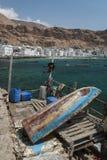 Der Fischereihafen von Al Mukalla im Jemen Stockbilder