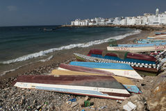 Der Fischereihafen von Al Mukalla im Jemen Lizenzfreie Stockfotografie