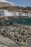Der Fischereihafen von Al Mukalla im Jemen Lizenzfreie Stockbilder