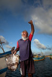 Der Fischmarkt in Sri Lanka Stockbild